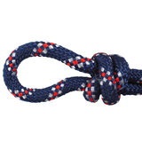 Touwhalster donkerblauw/wit/rood_
