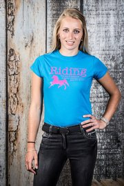 T-shirt Quote blauw