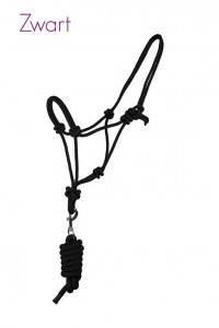 QHP touwhalsterset zwart